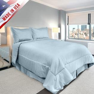 Veratex Supreme Sateen Comforter Set - Color: Blue, Size: Full at Sears.com
