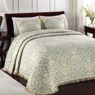 LaMont All Over Brocade Bedspread - Size: Queen, Color: Blue at Sears.com