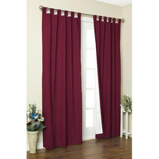 "Thermalogic Weathermate Solid Cotton Tab Top Curtain Pair - Size: 63"" H x 80"" W, Color: Burgundy at Sears.com"