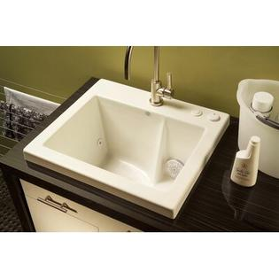 "Reliance Whirlpools Reliance 25"" x 22"" Jentle Jet Laundry Sink - Finish: Black at Sears.com"