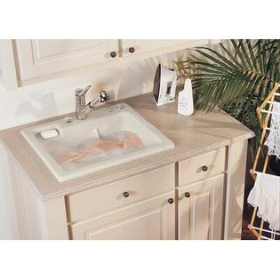 "Reliance Whirlpools Reliance 25"" x 22"" Jentle Jet Laundry Sink - Finish: Timberline at Sears.com"