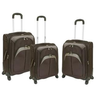 Travelers Club Lexington 3 Piece Expandable Spinner Luggage Set - Color: Brown at Sears.com