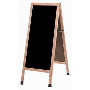 "Aarco Products A-Frame Sidewalk Board - Board: Black Chalkboard, Frame Finish: Clear Laquer Red Oak, Size: 42"" H x 24"" W at Sears.com"