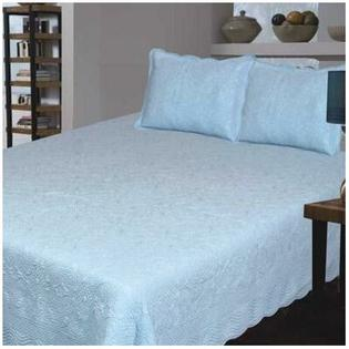 J&J Bedding Bouquet Matelasse Collection - Size: Twin, Color: Blue at Sears.com
