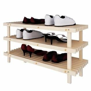 FURINNO Pine Solid Wood 3-Tier Shoe Rack at Sears.com