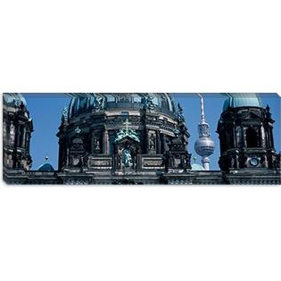 "iCanvasART Berliner Dom, w/ Television Tower (Fernsehturm) in Distance, Berlin, Germany Canvas Wall Art -Configuration:1 Panel, Size:16"" Hx at Sears.com"