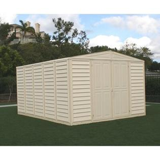 Duramax WoodBridge Vinyl Storage Shed (4 Pieces) - Foundation: No, Size: 10.5' x 13' at Sears.com