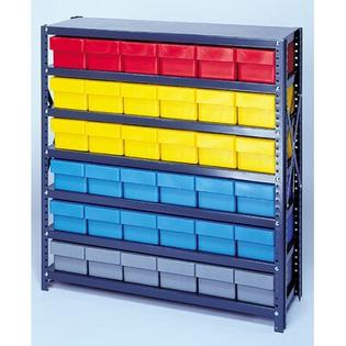 "Quantum Open Shelving Storage System with Euro Drawers - Bin Color: Blue, Bin Dimensions: 2 5/8"" H x 5 9/16"" W x 11 5/8"" D (qty. 54) at Sears.com"