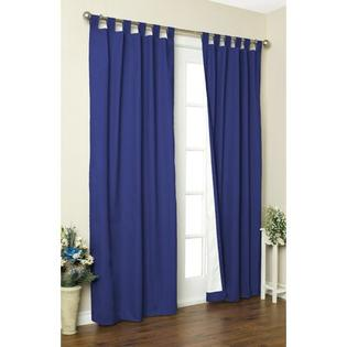 "Thermalogic Weathermate Solid Cotton Tab Top Curtain Pair - Size: 54"" H x 80"" W, Color: Navy at Sears.com"