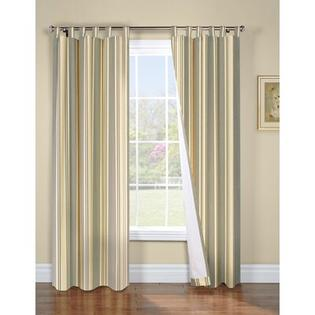 "Thermalogic Weathermate Broad Stripe Cotton Tab Top Drape Pair - Color: Sage, Size: 63"" H x 80"" W at Sears.com"