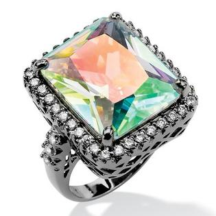 Palm Beach Jewelry Aurora Borealis & White Cubic Zirconia Ring - Size: 7 at Sears.com