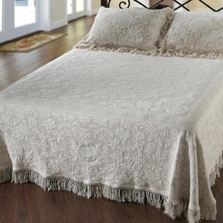 Maine Heritage Weavers Elizabeth Matelasse Bedspread - Size: Queen, Color: White at Sears.com