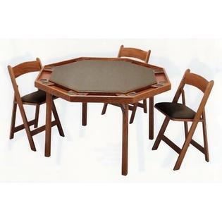 "Kestell Furniture 52"" Maple Contemporary Folding Poker Table - Upholstery: Red Felt, Finish: Mahogany at Sears.com"