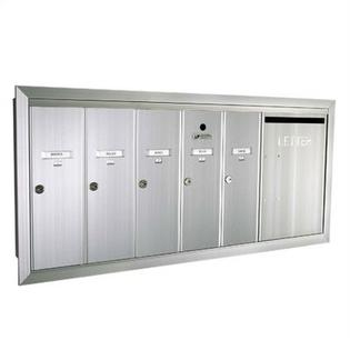 Florence 1260 Series Vert Mailbox Unit w/ Outgoing Mail Slot -Number of Compartments & Doors:1 Dbl. Wide Door & 5 Compartments, Color:San at Sears.com