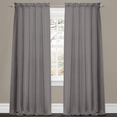 Lush Decor Lucia Rod Pocket Curtain Panels - Color: Red