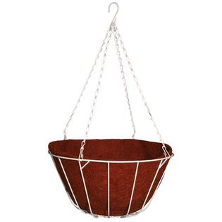 "Robert Allen Home and Garden Chateau Round Wire Hanging Basket - Size: 12"", Color: Red"