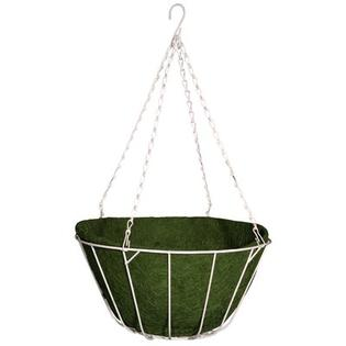Robert Allen Home and Garden Chateau Round Wire Hanging Basket - Color: Green, Size: 16""
