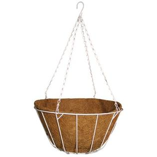 Robert Allen Home and Garden Chateau Round Wire Hanging Basket - Color: Natural, Size: 14""