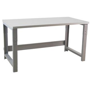 "Bench Pro Roosevelt Industrial Height Adj Formica Laminate Top Workbench -Frame Finish:Black, Laminate Top Finish:Oak, Size:36"" Wx96"" D at Sears.com"