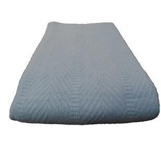 Cozy Fleece Egyptian Cotton Herringbone Blanket - Size: Twin, Color: Blue at Sears.com