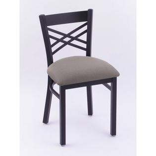 Holland Bar Stool Catalina Side Chair - Casters: No, Finish: Brushed Stainless, Upholstery: Wood - Natural Oak