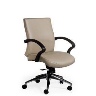 La-Z-Boy Endure Mid-Back Executive Chair - Casters/Glides: Standard Casters, Base: Standard Black Nylon, Upholstery: Rustic - Bronze
