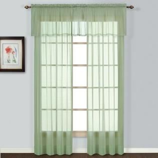 "United Curtain Co. Batiste Window Rod Pocket Curtain Panel (Set of 4) - Size: 84"" H x 54"" W x 0.2"" D, Color: Yellow at Sears.com"