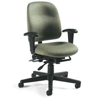 Global Total Office Granada Low-Back Pneumatic Multi-Tilter Office Chair - Fabric: Imagerie Hunter Green at Sears.com