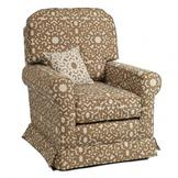 Little Castle Buckingham Glider - Piping: Plush Pink, Upholstery: Valetti Ivory at Sears.com