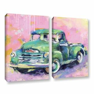 "Art Wall Vintage Chevy Truck by Svetlana Novikova 2 Piece Gallery-Wrapped Canvas Set - Size: 24"" H x 32"" W x 2"" D at Sears.com"