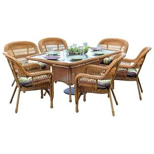 Tortuga Outdoor Portside 7 Piece Dining Set - Finish: Amber, Fabric: Haliwell Caribbean at Sears.com