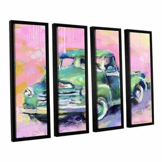 "Art Wall Vintage Chevy Truck by Svetlana Novikova 4 Piece Floater Framed Canvas Set - Size: 24"" H x 32"" W x 2"" D at Sears.com"
