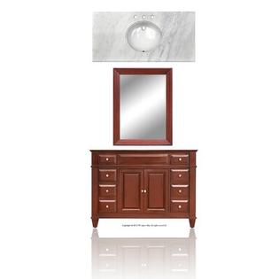 "Westport Bay Martinsville 48"" Single Basin Vanity w/ 2 ctr Doors -Basin Finish:Linen, Basin Shape:Square, Vanity Top Finish:Sierra White at Sears.com"