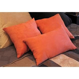 "Blazing Needles 18"" Micro Suede Bed Spread Pillow / Decorative Pillow Package (Set of 3) - Fabric: Saddle Brown at Sears.com"