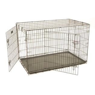 "Precision Pet ProValu Two-Door Dog Crate in Black - Size: Medium (30"" L x 19"" W x 21"" H) at Sears.com"