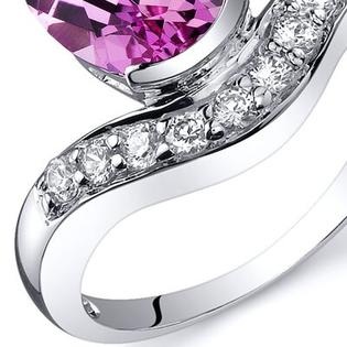 Oravo Channel Set 2.75 carats Diamond CZ Ring in Sterling Silver - Size: 8, Color: Pink Sapphire at Sears.com