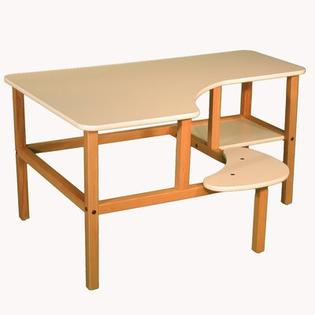 Wild Zoo Grade School Computer Desk - Trim Color: Blue, Finish: White at Sears.com