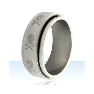 Trendbox Jewelry Skull and Crossbones Spinner Band Ring - Size: 11.25 at Sears.com