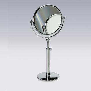 "Windisch by Nameeks 16.2"" Free Standing 5X Magnifying Mirror with Optical Grade Glass - Finish: Satin Nickel at Sears.com"
