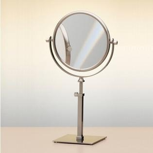"Windisch by Nameeks 14.9"" Free Standing 7X Magnifying Mirror with Optical Grade Glass - Finish: Satin Nickel at Sears.com"
