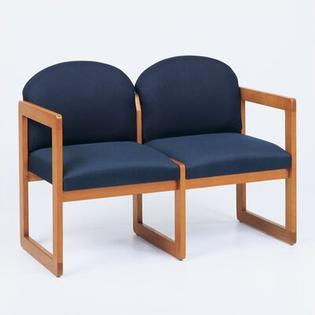 Lesro Classic Two Seats - Finish: Walnut, Material: Renaissance Wineberry Vinyl at Sears.com