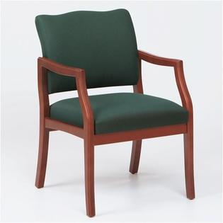 Lesro Franklin Guest Chair - Arms: Included, Finish: Walnut, Material: Renaissance Chalk Vinyl at Sears.com