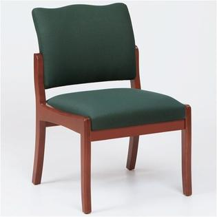 Lesro Franklin Guest Chair - Arms: Not Included, Finish: Mahogany, Material: Renaissance Chalk Vinyl at Sears.com
