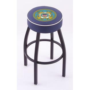 "Holland Bar Stool US Military Single Ring Swivel Barstool with Black Base  - Size: 25"" Height, Team: United States Coast Guard at Sears.com"