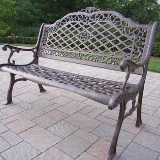 Oakland Living Mississippi Aluminum Garden Bench - Finish: Antique Bronze, Material: Aluminum at Sears.com