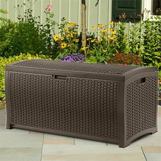Suncast Resin Wicker 73 Gallon Deck Box at Sears.com