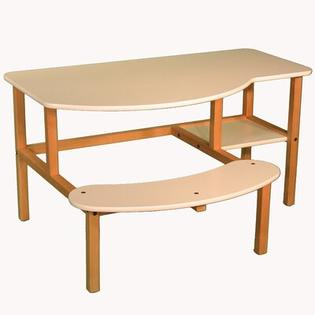 Wild Zoo Grade School Buddy Computer Desk - Trim Color: Brown, Finish: White at Sears.com