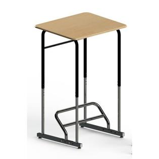 Stand2Learn Stand-Biased Height Adjustable Classroom Desk (5th Grade - Higher Ed.) - Frame Finish: Platinum, Desk Finish: Maple at Sears.com