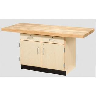 Diversified Woodcrafts Two Station Workbench - Number of Vises: 0, Style: Two-Doors/Drawers at Sears.com