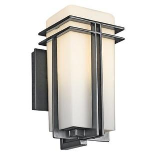 "Kichler Lighting Group Tremillo  Outdoor Wall Lantern in Black - Size / Bulb Type: 17.2"" H x 8.5"" W x 9.7"" D / Fluorescent at Sears.com"